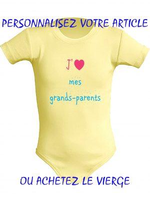 Baby body jaune personnalisé