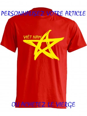 TEE SHIRT REGULAR 150G ROUGE Drapeau Viet nam