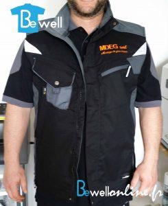 20160606_171253 broderie logo sur veste de travail bewellonline