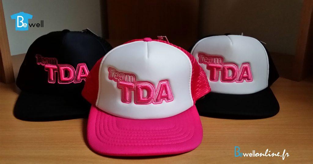 Broderie 3D sur casquette