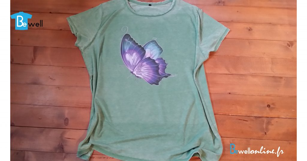 20161121_104135 Impression papillon sur tshirt bewellonline