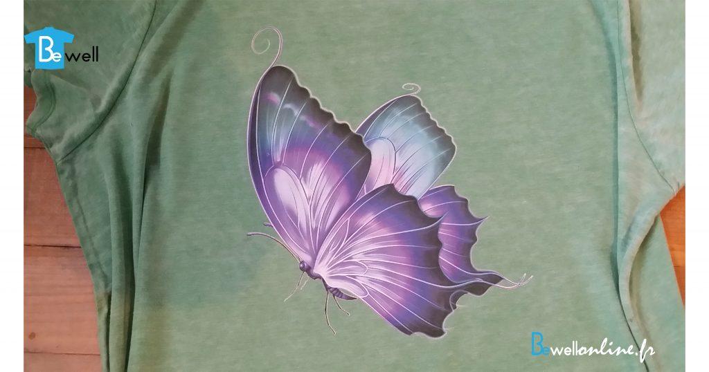 20161121_104155 Impression papillon sur tshirt bewellonline