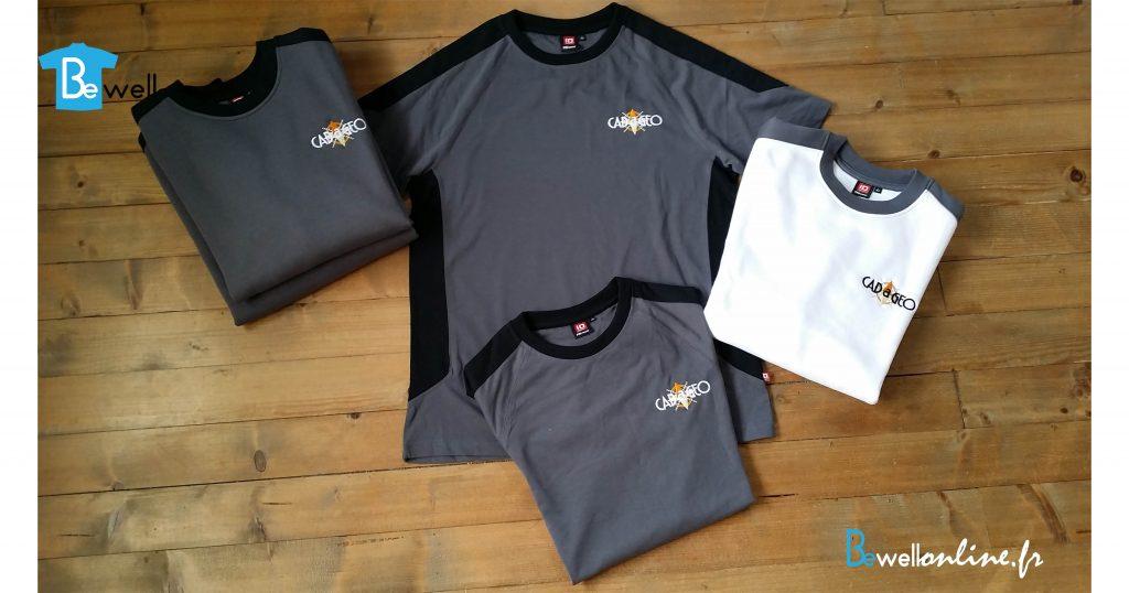 broderie logo sur tshirt et sweat