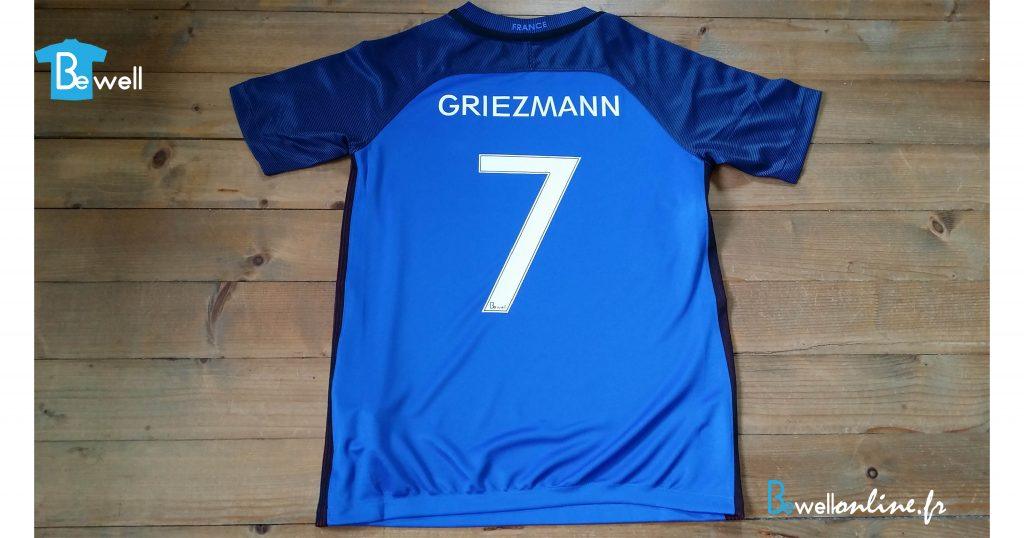 transfert flex sur maillot foot chiffre 7 griezmann bewellonline