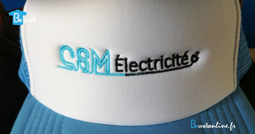 broderie logo sur casquette bewellonline