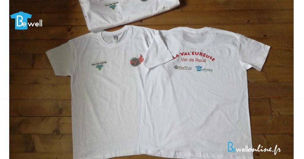 Transfert sérigraphique trail organisateurs sur tshirt bewellonline