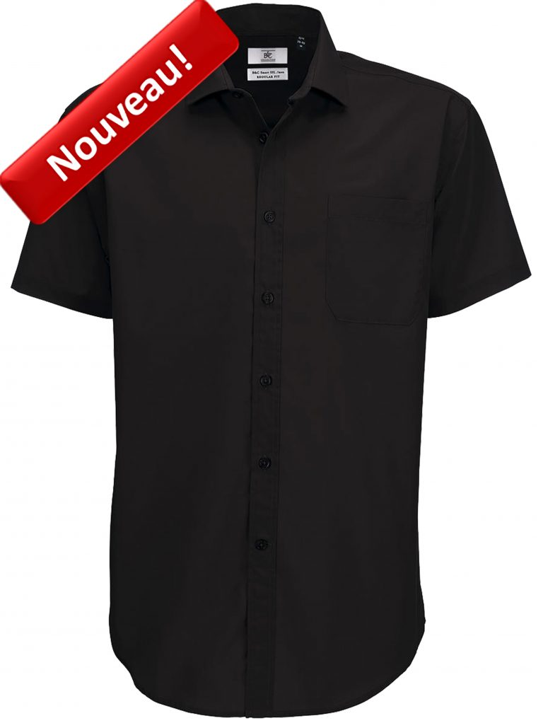 Chemise Homme Manches Courtes B&C SMP62