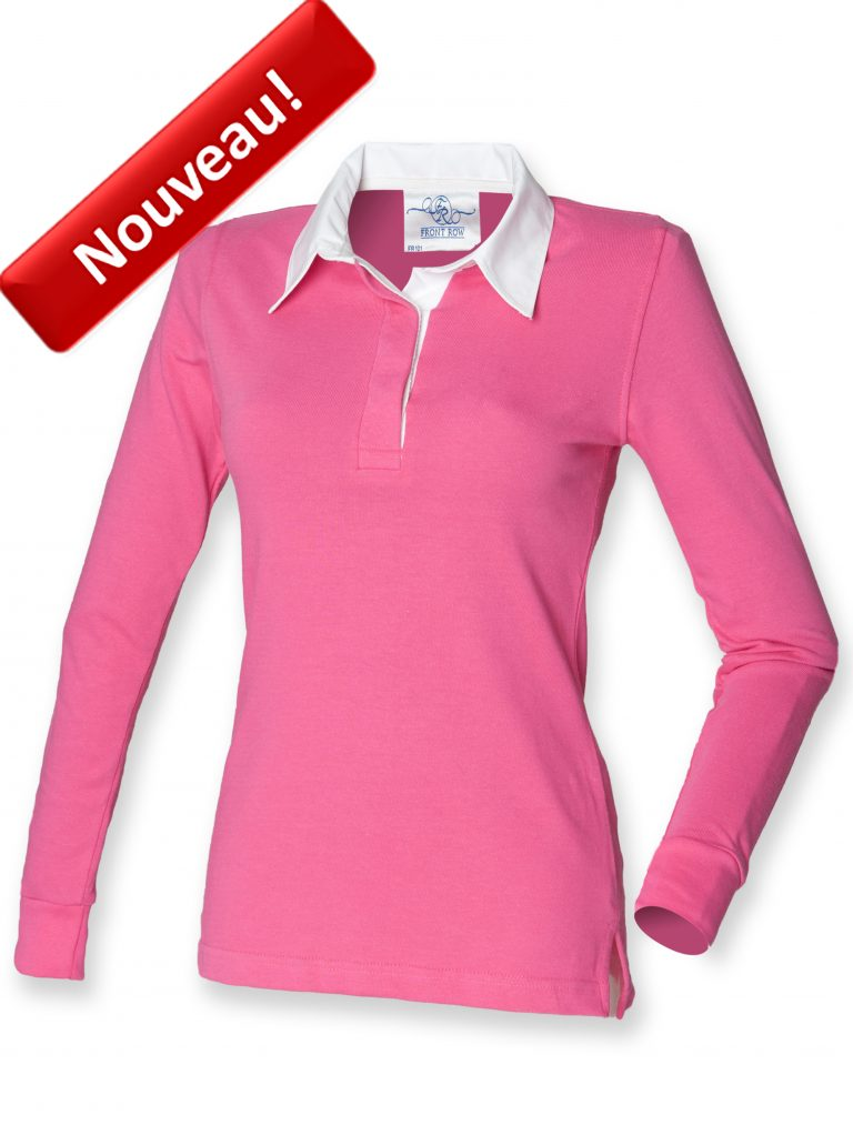 POLO RUGBY FEMME Manches longues FR101 FRONT ROW Nouveau