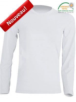 T-shirt enfant JHK manches longues BLANC tsrk150ls nouveau