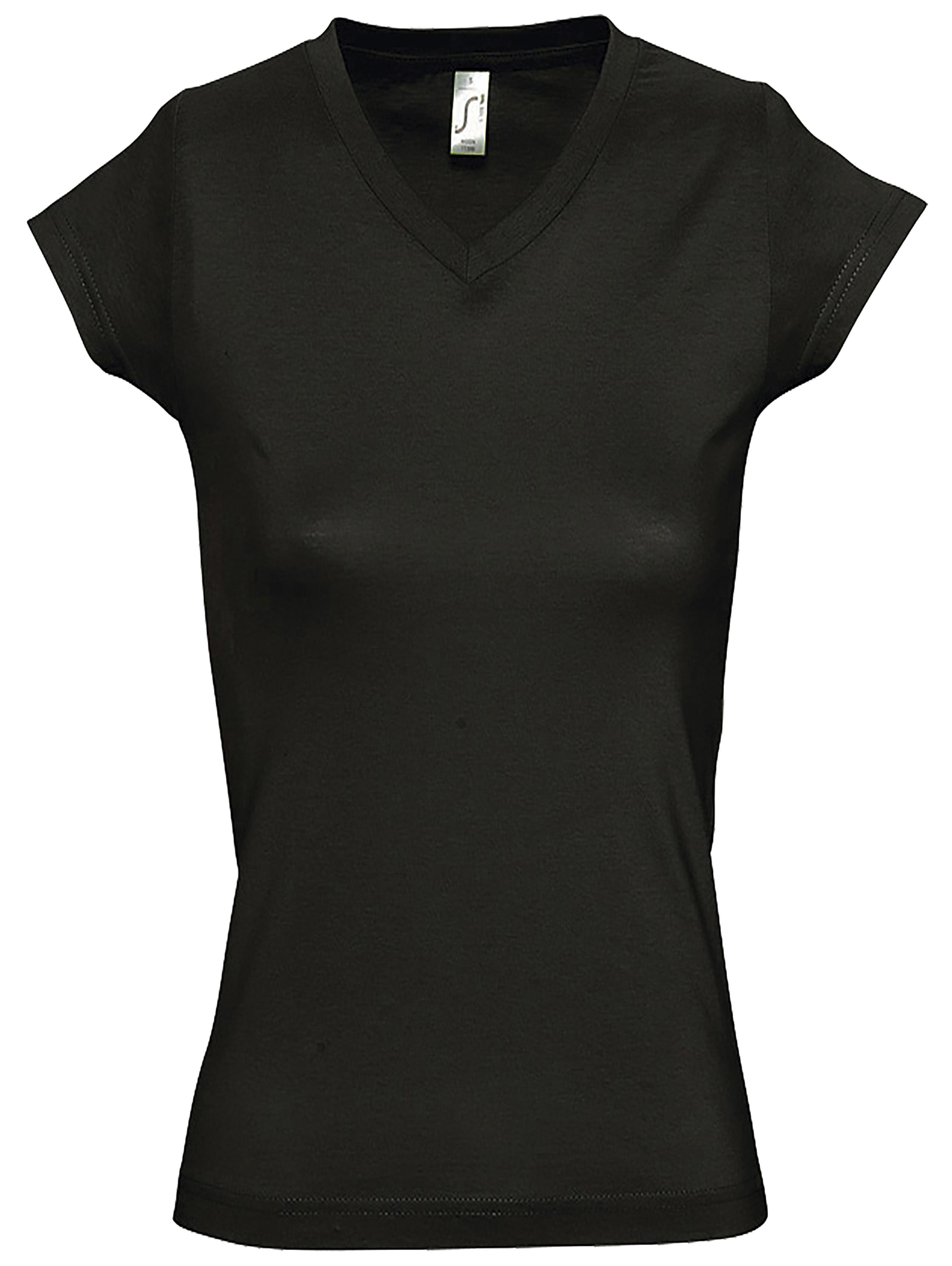 T-shirt SOLS MOON 11388 Col V Femme Noir