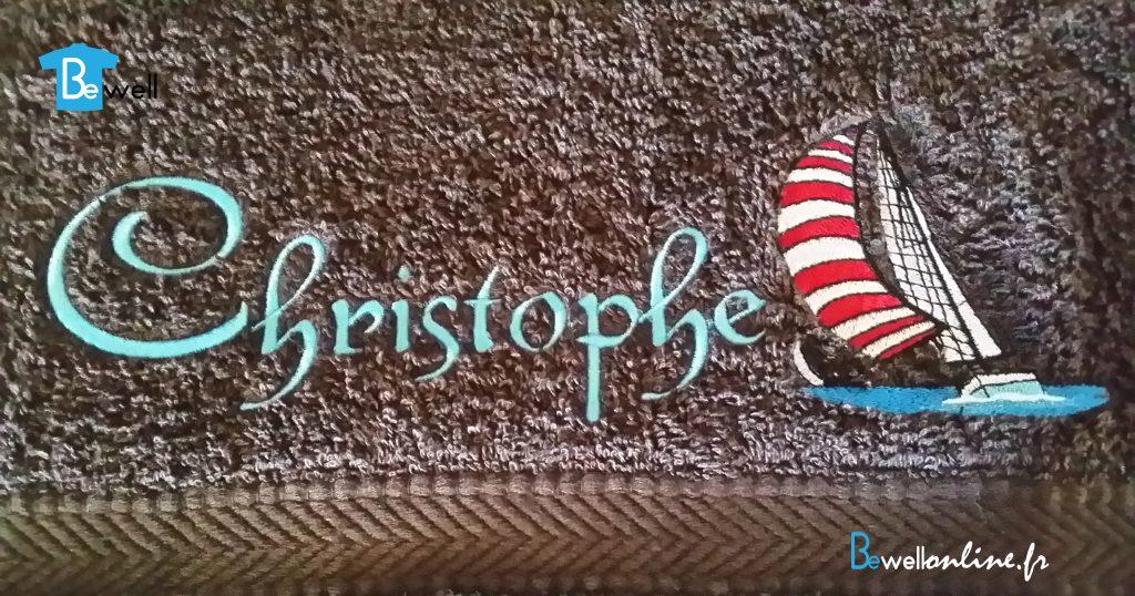 broderie serviette bewellonline cadeau prenom