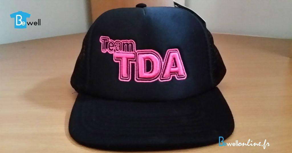 broderie logo 3D sur casquette