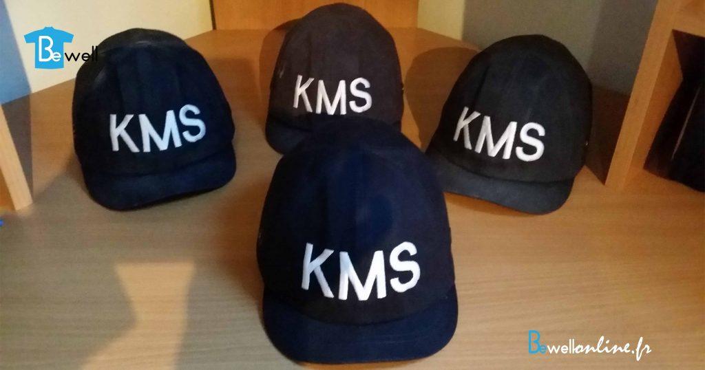 broderie logo sur casque de chantier casquette bewellonline