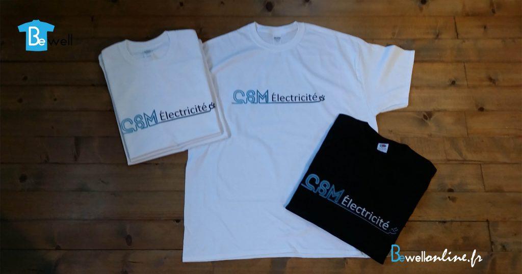 impression numérique logo sur tshirt et sweat