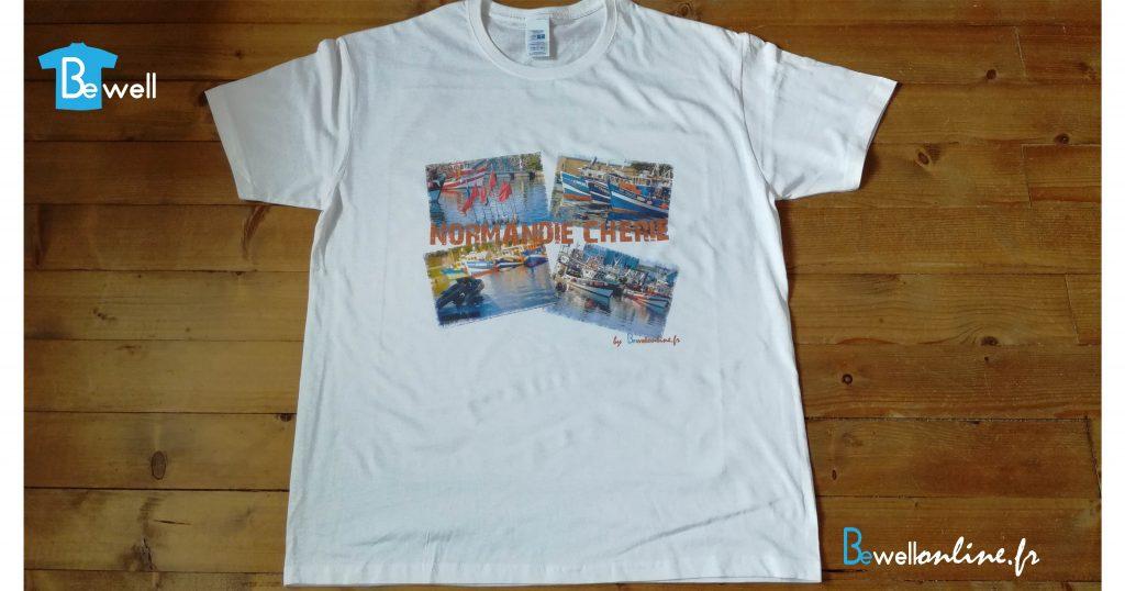 Impression numérique directe sur tee shirt bewellonline