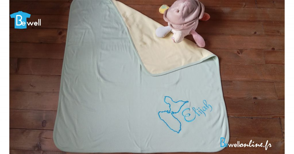 broderie sur couverture bébé bewellonline