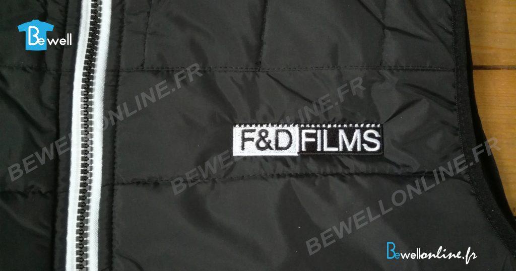 Broderie logo sur bodywarmer bewellonline