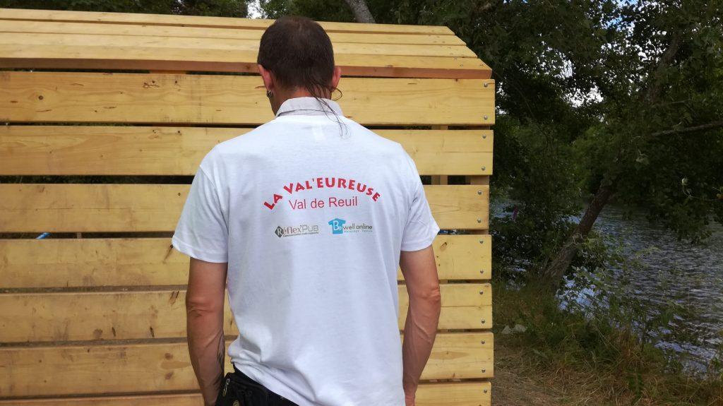Transfert sérigraphique trail organisateurs la valeureuse val de reuil sur tshirt bewellonline