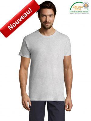 T-shirt SOLS REGENT-11380 BLANC CHINE Face